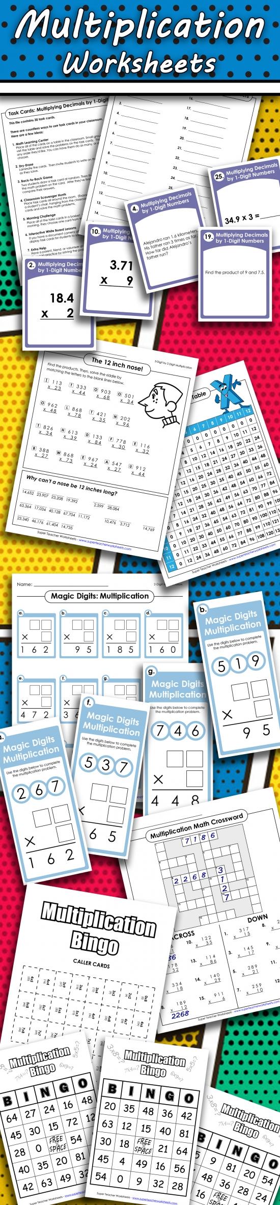 medium resolution of Printable Multiplication Worksheets