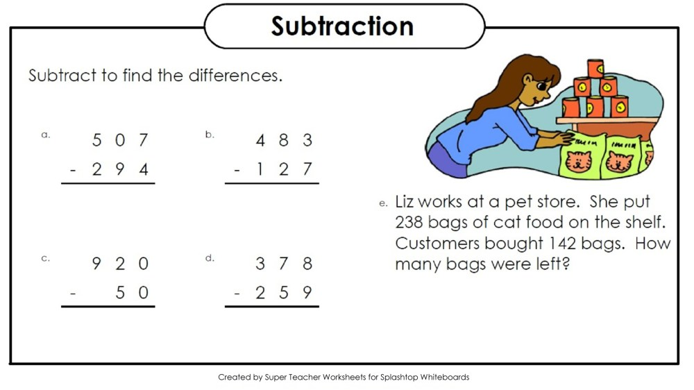medium resolution of 3 Digit Subtraction - Lessons - Blendspace