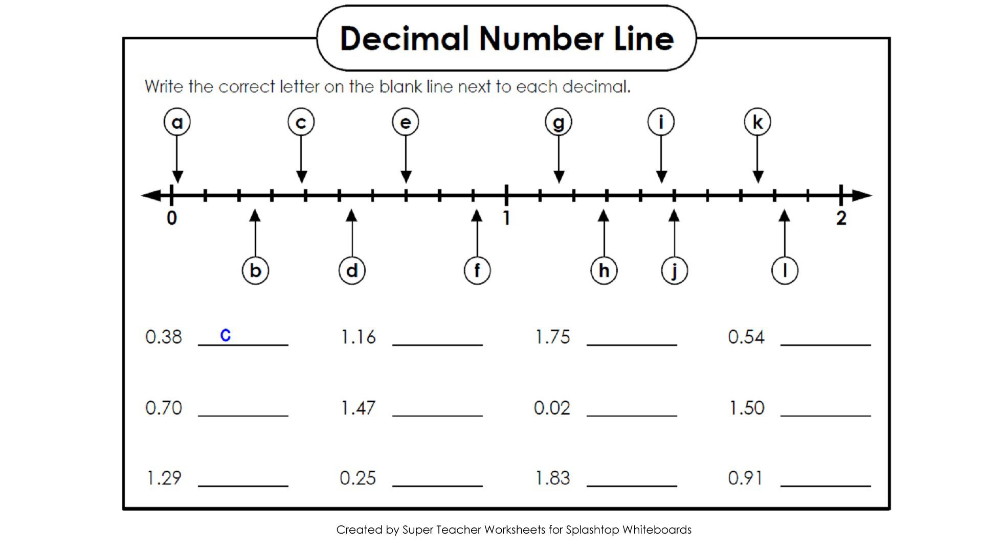 Super Teacher Worksheets Division With Decimals