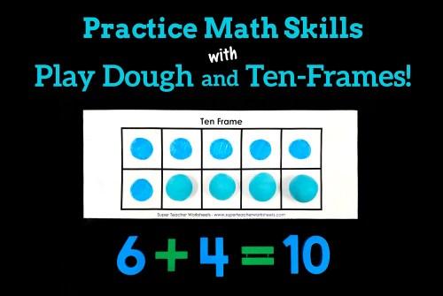 small resolution of Play Dough Ten Frames