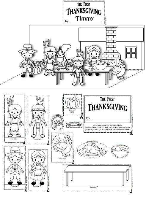 Thanksgiving Diarama