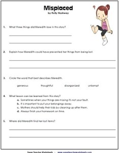 Reading comprehension questions worksheets also th grade rh superteacherworksheets
