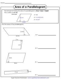Parallelogram Worksheet - Calleveryonedaveday