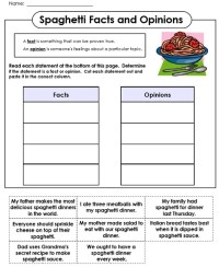 Fact Or Opinion Worksheets Kindergarten. Fact. Best Free ...