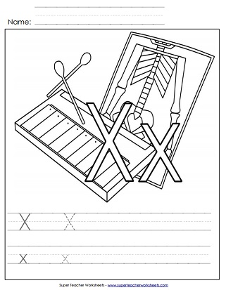 Letter X Worksheets Recognize Trace Print