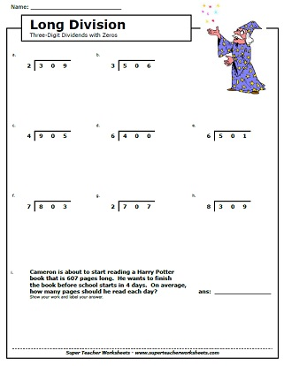 Long Division With Remainders Worksheets 6th Grade - Free ...