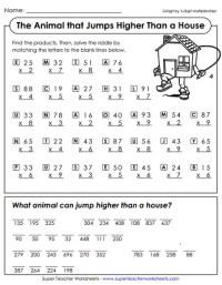 Multiplication Worksheets (2-Digit Times 1-Digit)