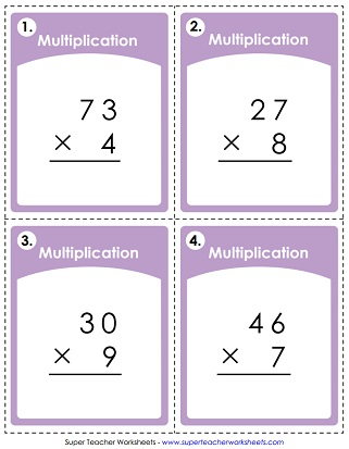 Multiplication Worksheets 2 Digit Times 1 Digit