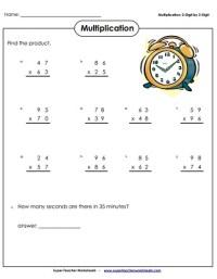 Multiplication (2-Digits Times 2-Digits)