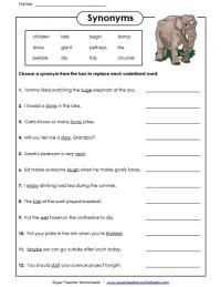 All Worksheets  Antonym Worksheets