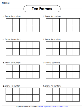 Ten-Frames Worksheets