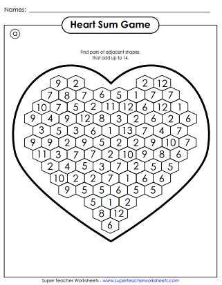 Valentine's Day Worksheets & Puzzles