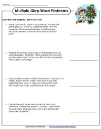 Two Step Word Problems Math Worksheets. Two. Best Free ...