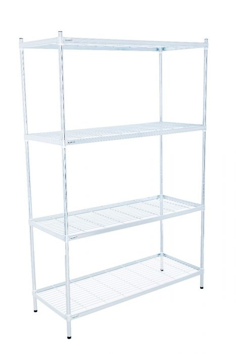 5 Small Zinc Plated Wire Shelves Supplied By Supertuff Europe
