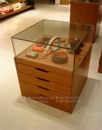 Custom POS Leather Handbag Wallet & Purse Display Cabinet