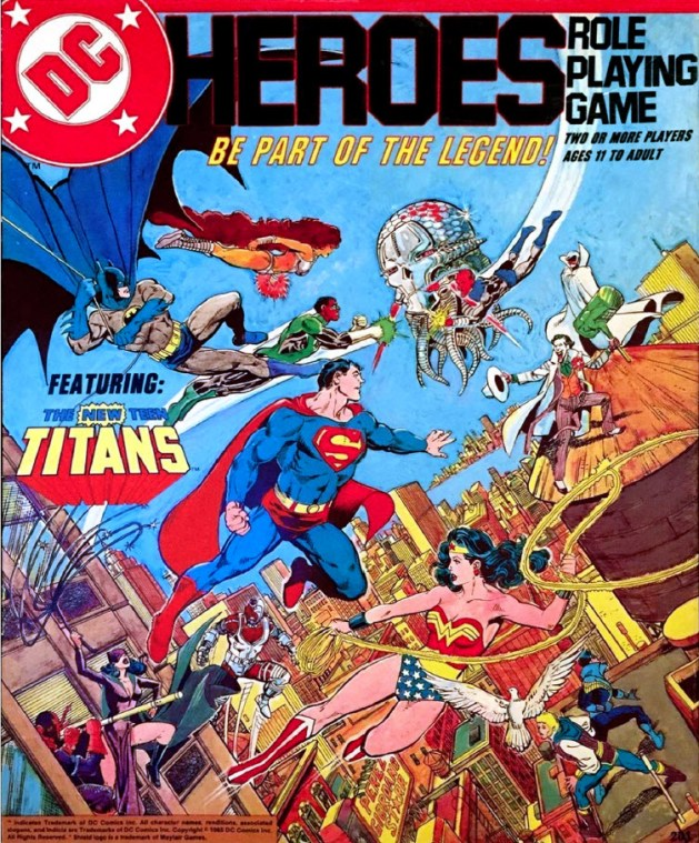 Cover of the DC Heroes RPG, first edition