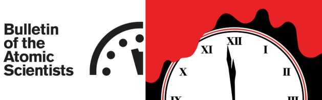 The Bulletin of the Atomic Scientists' Doomsday Clock alongside the Watchmen one