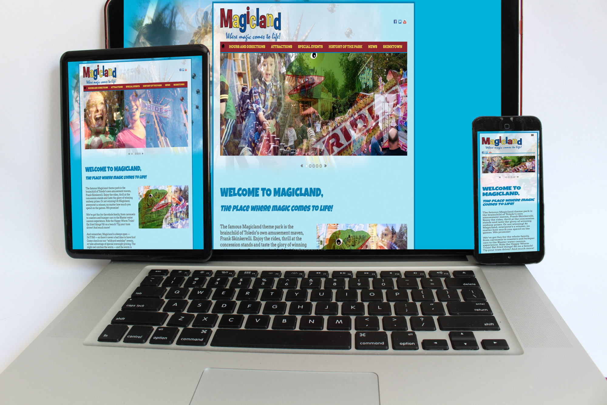 Magicland Theme Park home page