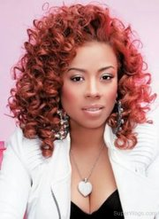 keyshia cole red curly hair style