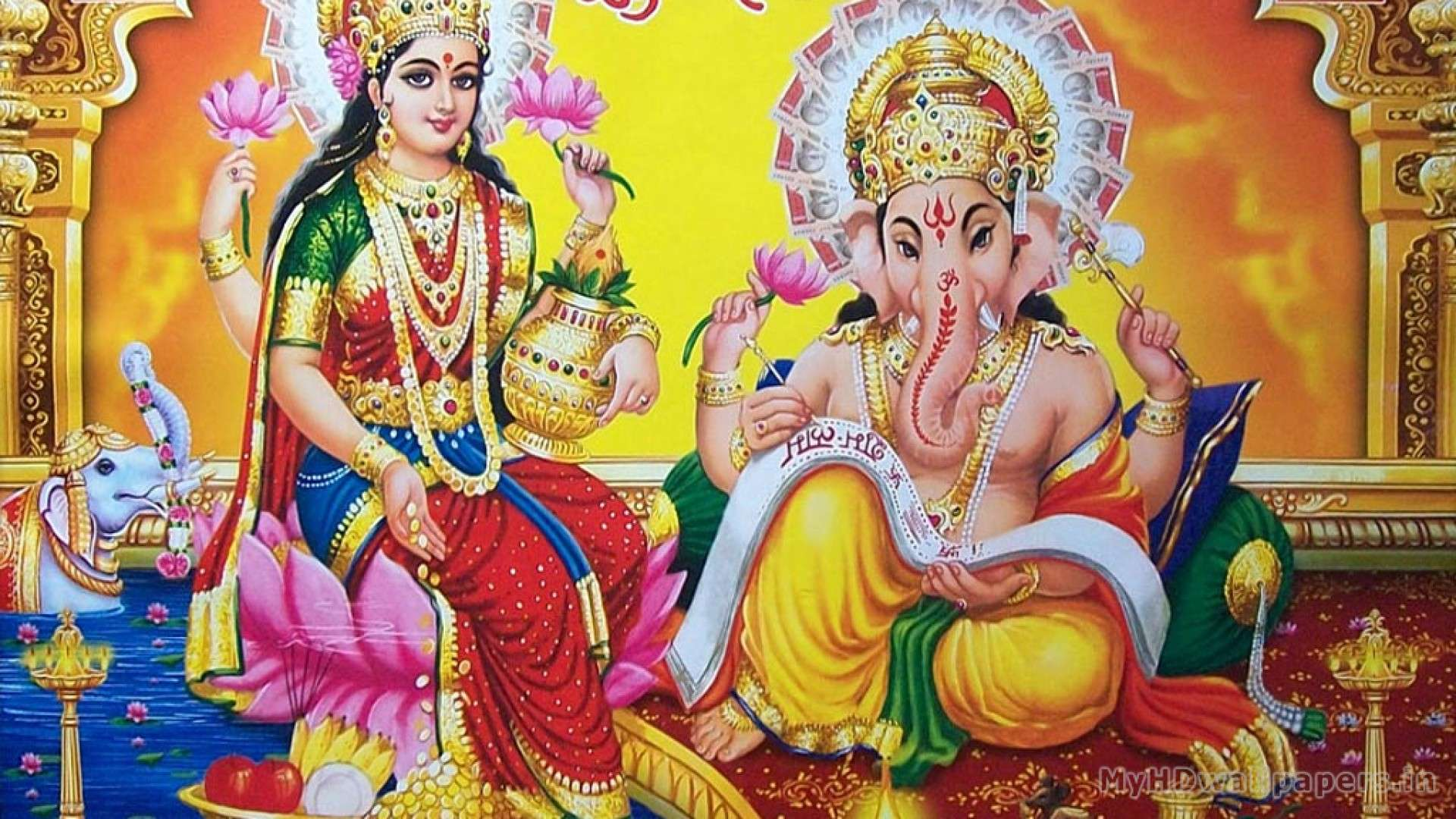God Laxmi 3d Wallpaper Laxmi Ganesh Hd Wallpapers