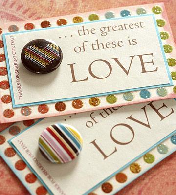 DIY Wedding Favors - Romantic Magnets