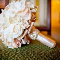 Bridal Bouquet Ideas - Rhinestone Band
