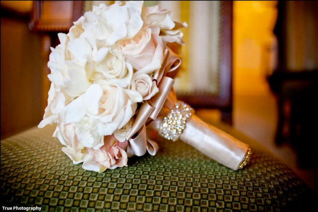 Bridal Bouquet Ideas - Rhinestone Stem Band