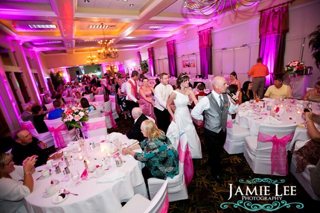 Fun wedding reception idea - the conga line!