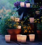 Outdoor Wedding Decor - Candles
