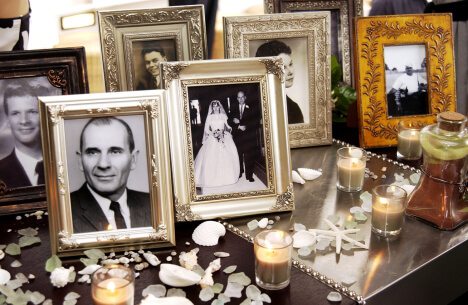 Table for Remembering Loved Ones at Wedding Reception