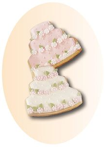 Wedding Cake Cookies With Recipe