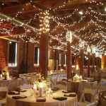 Wedding Ceiling Decorations – Swagged Twinkle Lights