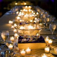 Wedding Centerpiece - Votives and Floating Candles