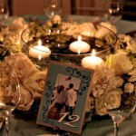 Floral Wreath Wedding Centerpieces With Floating Candles – 5 Ideas!