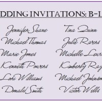 "Wedding Guest List - The ""B"" List"