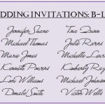 "Wedding Guest List – The ""B"" List"