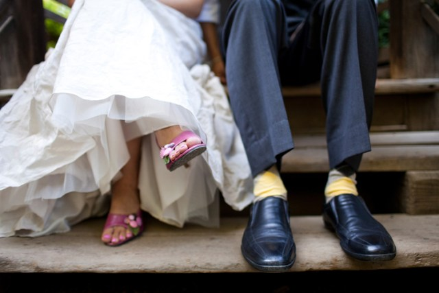 Wedding Picture of the Week - Pink Wedding Shoes