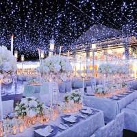 Wedding Reception Ceiling Decor: Winter Wonderland Theme