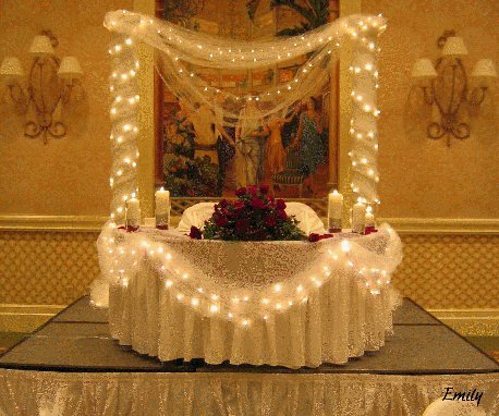 Wedding Reception Decorations for Sweetheart Table