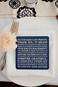 Picture of Unique Wedding Reception Idea - message to guests