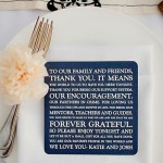 Wedding Reception Ideas: Personalized Message Coasters