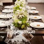 Wedding Table Decor Ideas  – Photos Table Runner