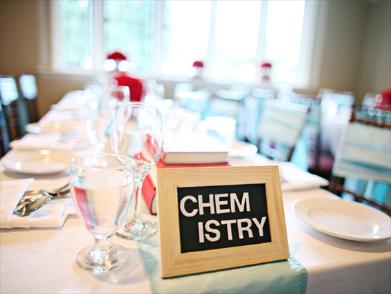 Creative Wedding Table Names - Image of name on reception table