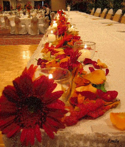 Fall Wedding Decor - Head Table
