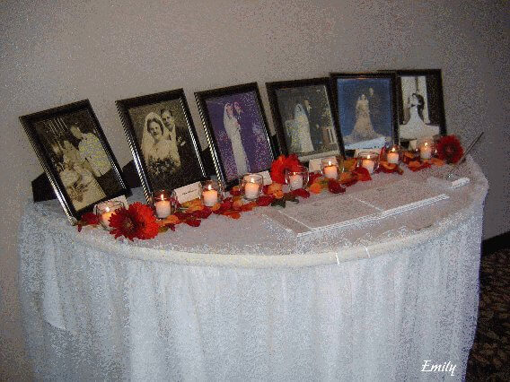 Fall Wedding Decorations for the Guestbook and Sign-in Table