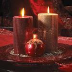 Holiday Glitter Wedding Centerpieces