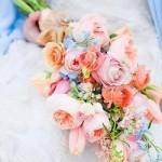 Pastel Pageant Style Bridal Bouquet