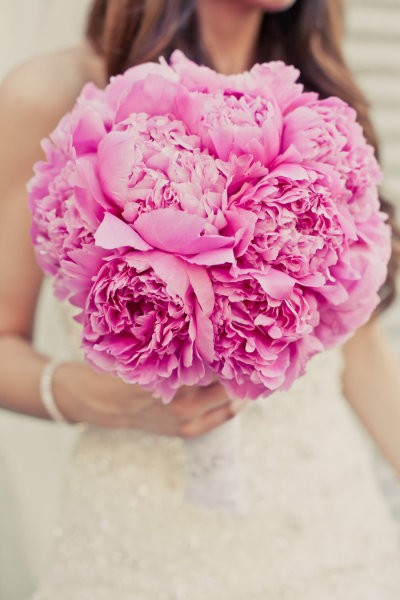 Peony Bouquet for Wedding
