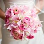 Pink Round Wedding Bouquet
