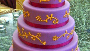 Orange Wedding Cake - Four Tier |